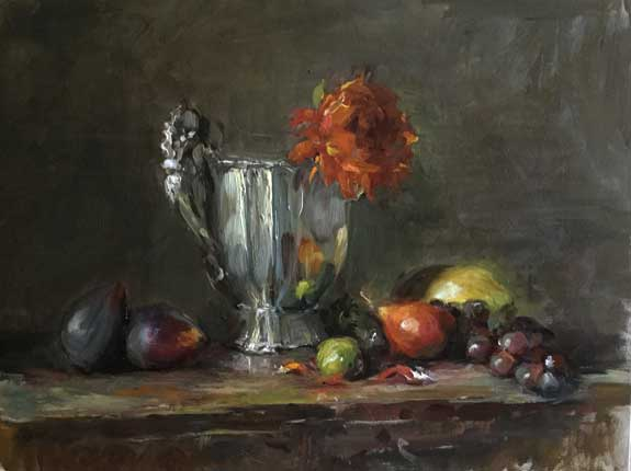 silver pot oil painting by Erin O'Toole