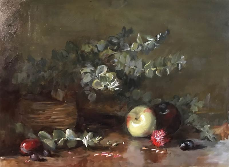 apple oil painting by Erin O'Toole