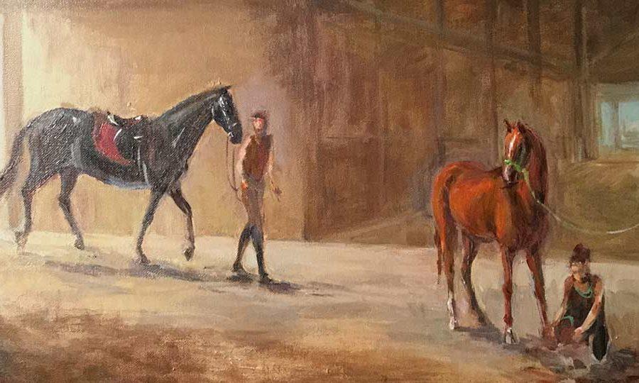 Horse painting at Crocker