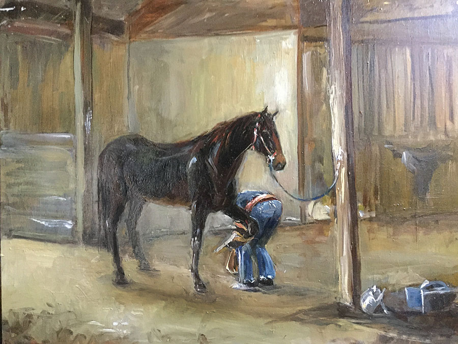 Oil painting of horse named Marley by Erin O'Toole.